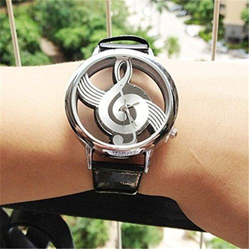 MP Women's Musical Note Casual Watch with PU Belt 050228 Color Black XDP 0617
