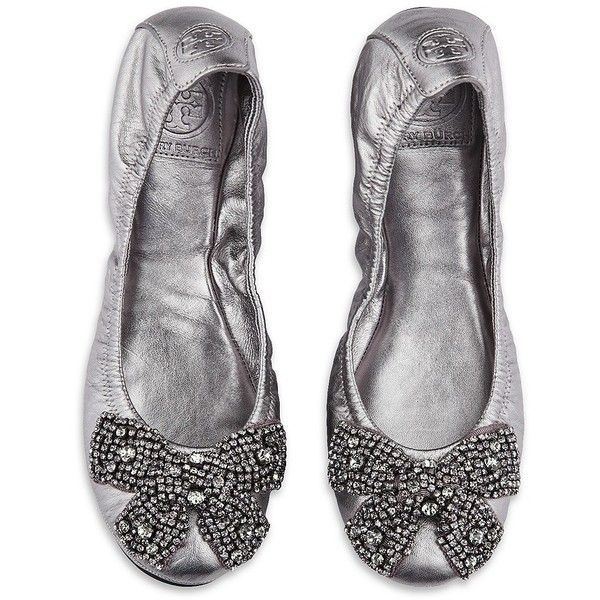 TORY BURCH Eddie Crystal Bow Flat: Finals Shoes, Fabulous Shoes, Bows Flats, Tory Burch, Silver Shoes, Ballet Flats, Crystals Bows, Eddie Crystals, Flats Wedding Shoes