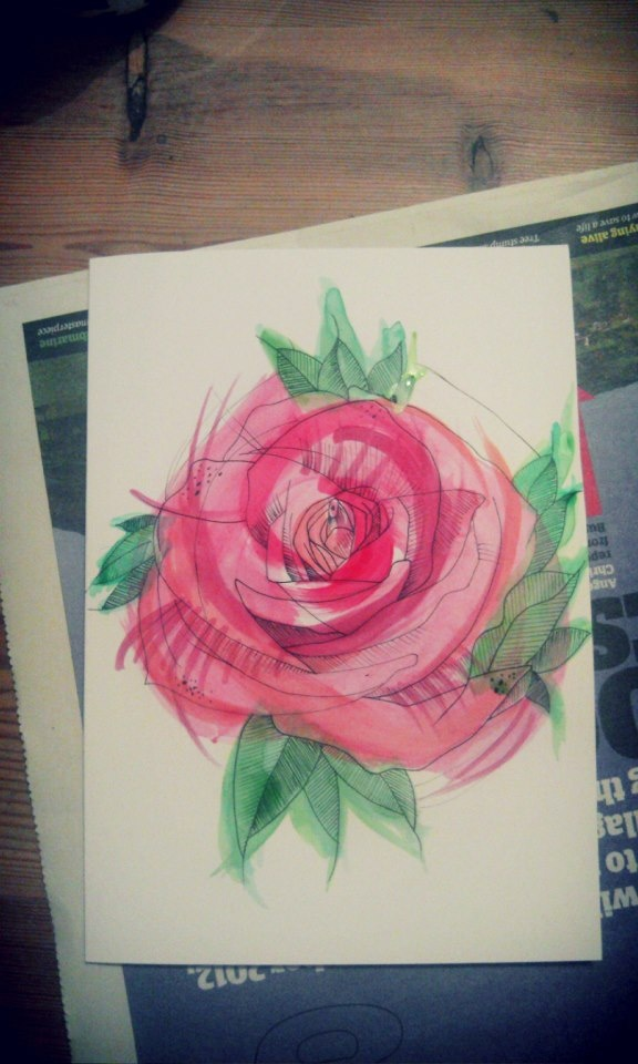 rose idea from a tattoo I found