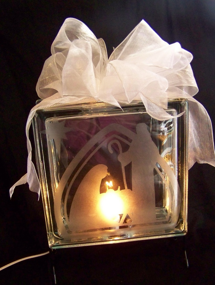 Best ScanNCut Vinyl Glass Blocks Images On Pinterest - Nativity vinyl decal for glass block light