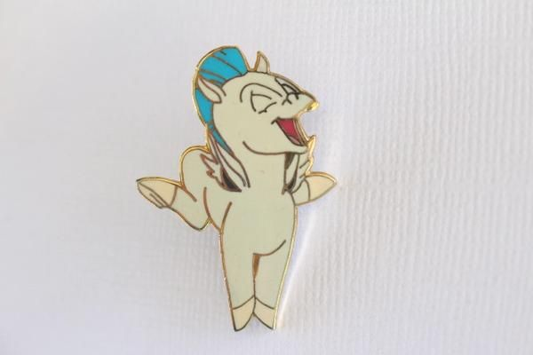 This rare Disney pin for sale features the flying horse from Hercules, Pegasus! Old and retired, full body. Guaranteed Authentic and Scrapper-Free.Earn reward p