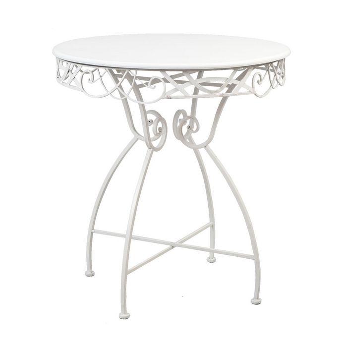 Landhaus Tisch Eisen weiss  Deko-Salon Online Shop