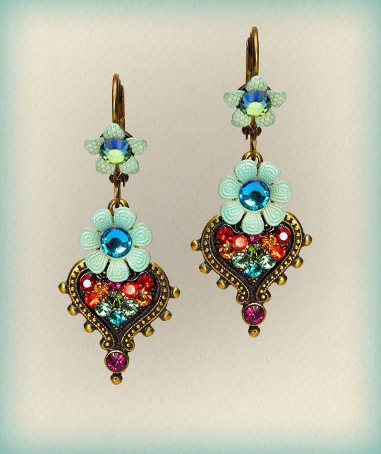 Orly Zeelon The Filigree Stone Earrings  2080201202 by OrlyZeelon