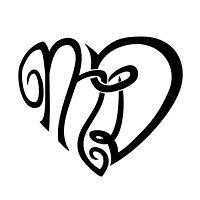 Tatuaggio di Cuore con lettere M+D,Unione indissolubile tattoo - TattooTribes.com