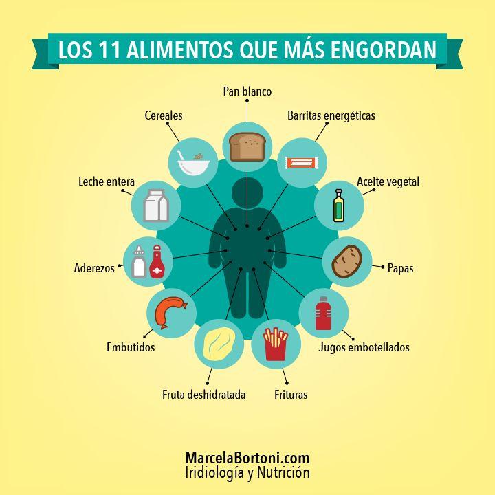 Los 11 Alimentos que más ENGORDAN.