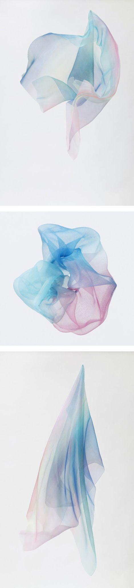 silk scarfs by Yuki Fujisawa. I wouldn't wear one, but they look so pretty....I had to share.
