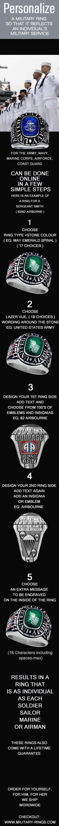 Celebrate a great career in the US Navy with Personalized custom Military rings : #USnavy #navy #USMilitary http://www.us-military-rings.com/Navy-Rings.html