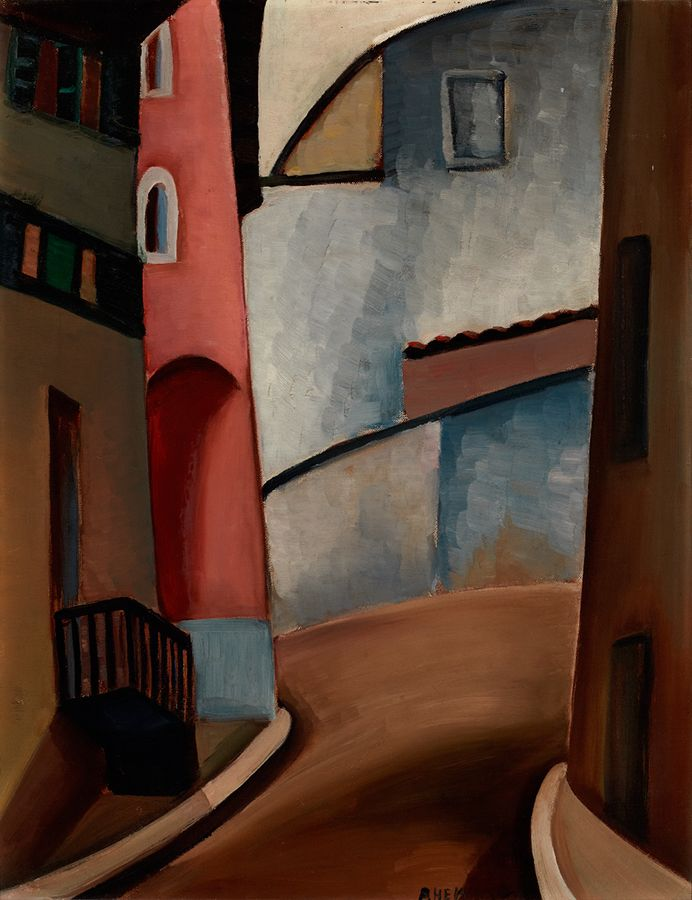 "This was one of several paintings by Heward that Isabel McLaughlin owned. ""Street in Cagnes,"" c. 1930, Robert McLaughlin Gallery."