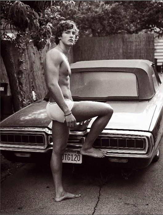 Parker Gregory and Thunderbird. I don't know who he is...but reminds me of Houston in the 70s...and a love with a chest like that and wavy hair!! nk