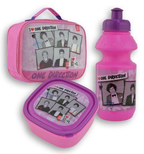 Global One Direction Boîte à lunch et gourde Rose  http://www.123mode.fr/produit/global-one-direction-boite-a-lunch-et-gourde-rose/
