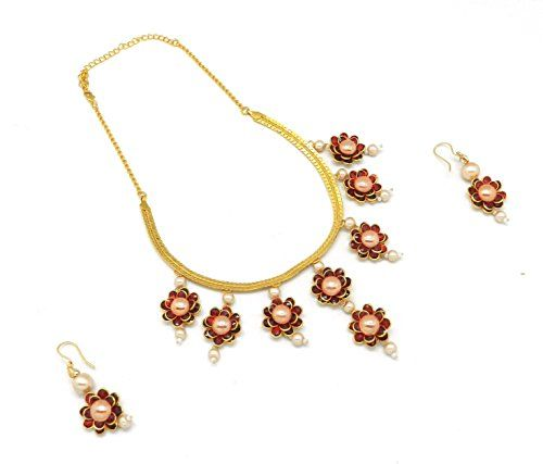 Beautiful Handcrafted Maroon Pacchi Necklace with Earring... http://www.amazon.in/dp/B072JG2KJX/ref=cm_sw_r_pi_dp_x_af5wzbKWYCN1N