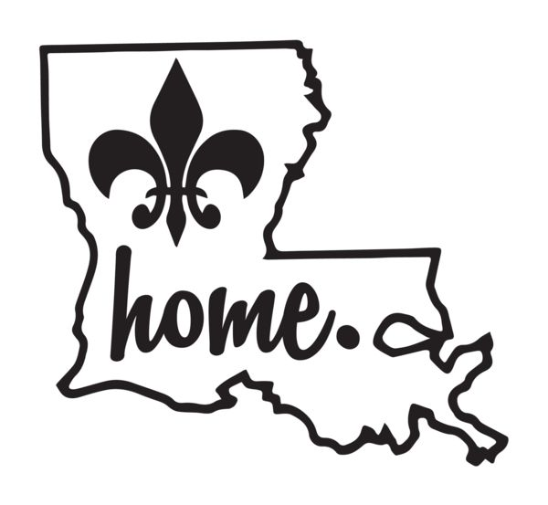 Louisiana Home Decal | Personalized Gifts Like Shirts And Decals