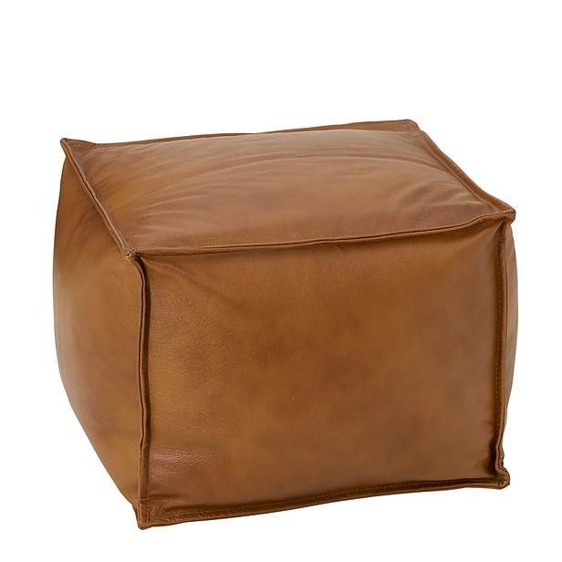 Poof leather Saccus A-10 Poef (leer) (50x50 cm)? Bestel nu bij wehkamp.nl