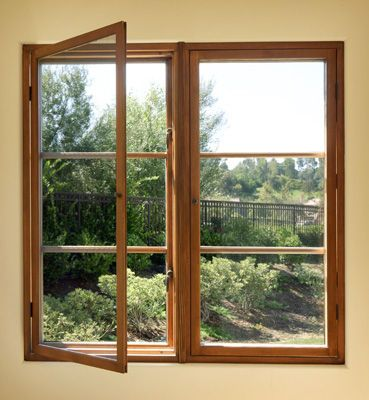 Loewen vg douglas fir casement window ours will have this for Marvin screens