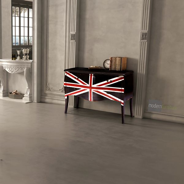 The British invasion isn't over. Bring some glamour to your space with the Union Jack Cabinet.