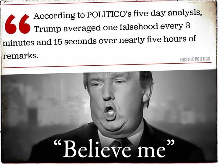 Pathological lying -- and he has the nerve to accuse anyone else of 'fake news'