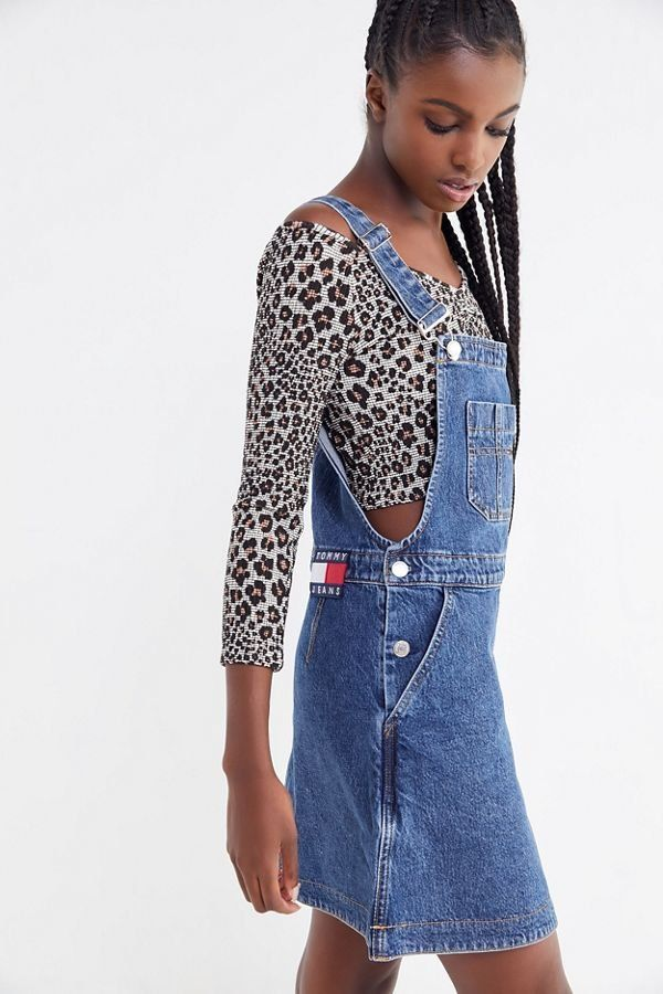 ce137011805 Slide View  4  Tommy Jeans Denim Dungaree Mini Dress
