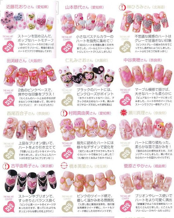 152 best nail art magazine images on pinterest book japanese photos of trendy japanese manicure prinsesfo Image collections