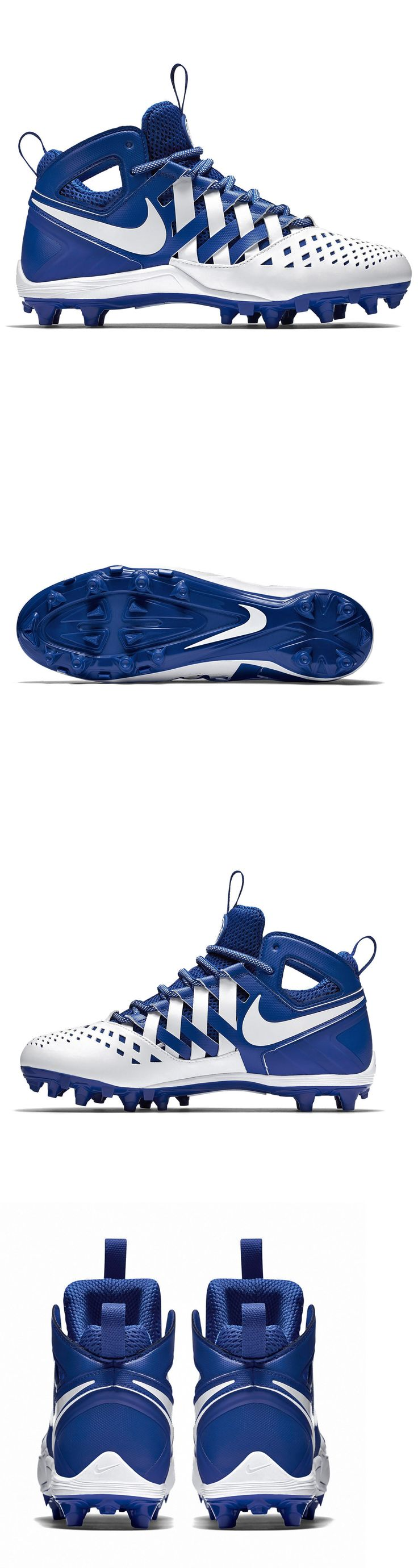 Footwear 159154: New Nike Huarache V Lax Mid Mens Lacrosse Cleats Football : White Blue -> BUY IT NOW ONLY: $33.81 on eBay!