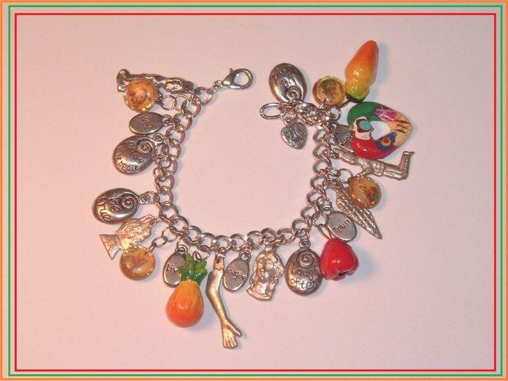 "Milagros Charm Bracelet 7"" long  | eBay"