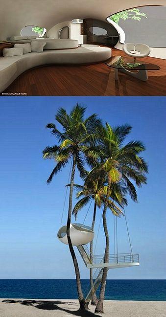 tree house on the beach