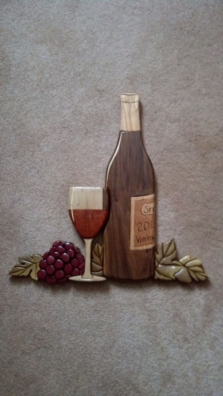 Wood Intarsia wine 2013 need to make for our new packy store.