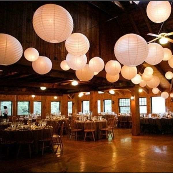 Papierlampions mit LED