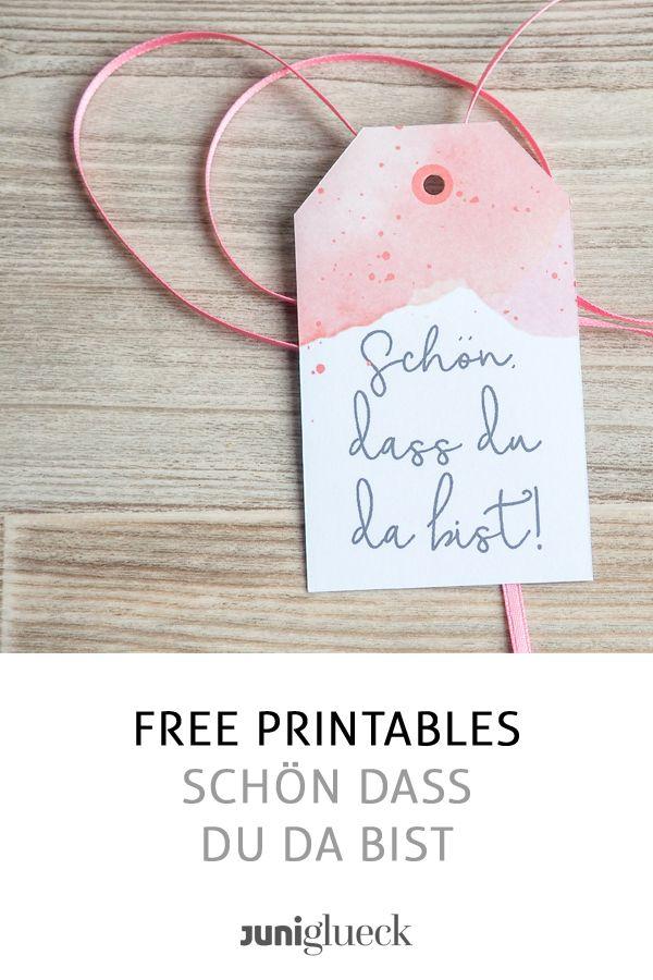 Free Printable Schon Dass Du Da Bist Einladungskarten Hochzeit Selber Machen Diy Hochzeit Basteln Feiern