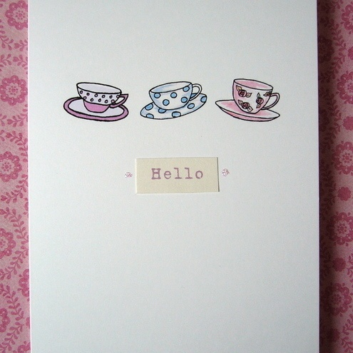 Tea Party Greeting Card £2.50