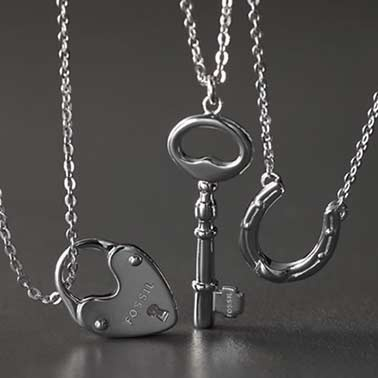 Fossil Jewelry . Love EVERY necklace.