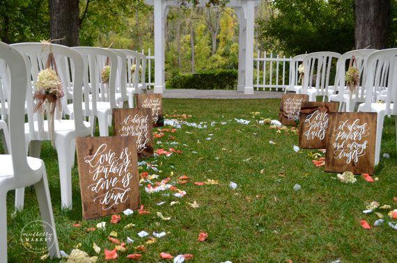 Rustieke bruiloft tekenen 1 Korintiërs 13 door MulberryMarketDesign