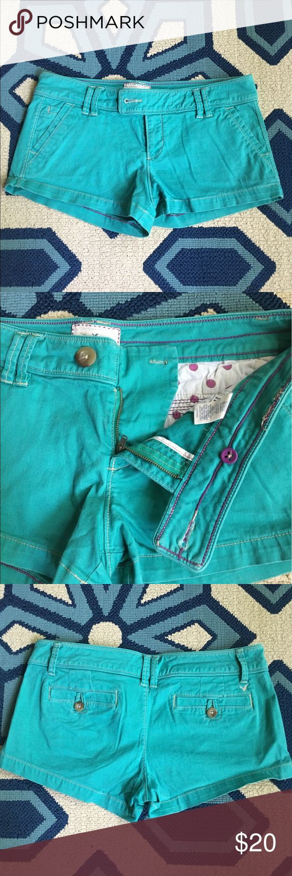 AMERICAN EAGLE 💕 teal shorts Adorable American Eagle shorts. Size 8. Great condition! 😘 American Eagle Outfitters Shorts