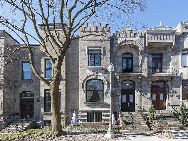 Montreal Westmount greystone row house