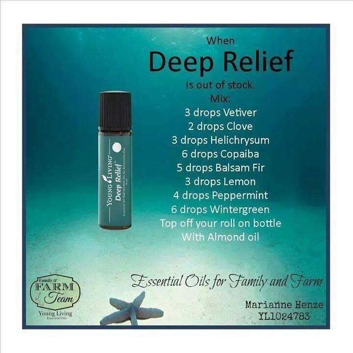 DIY Deep relief blend. For more info or to purchase www.EssentialOilsEnhanceHealth. com