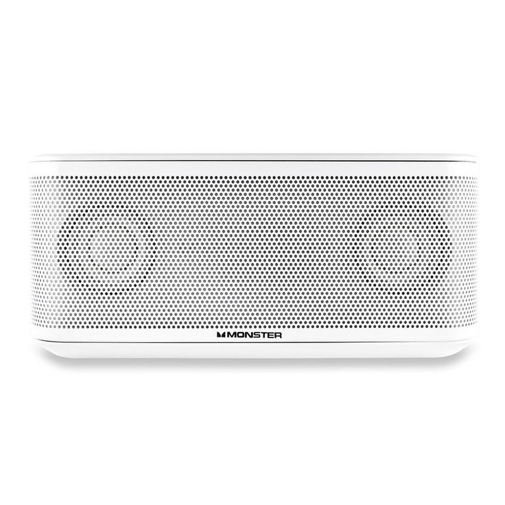 Monster Clarity HD Micro Portable Bluetooth Speaker, White