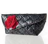 Up-cycled PLASTIC clutch bag. with detachable flower Available from www.ilovediepsloot.co.za