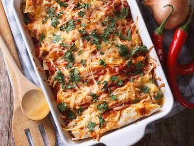 Vegetarian-Friendly Sweet Potato Echililadas