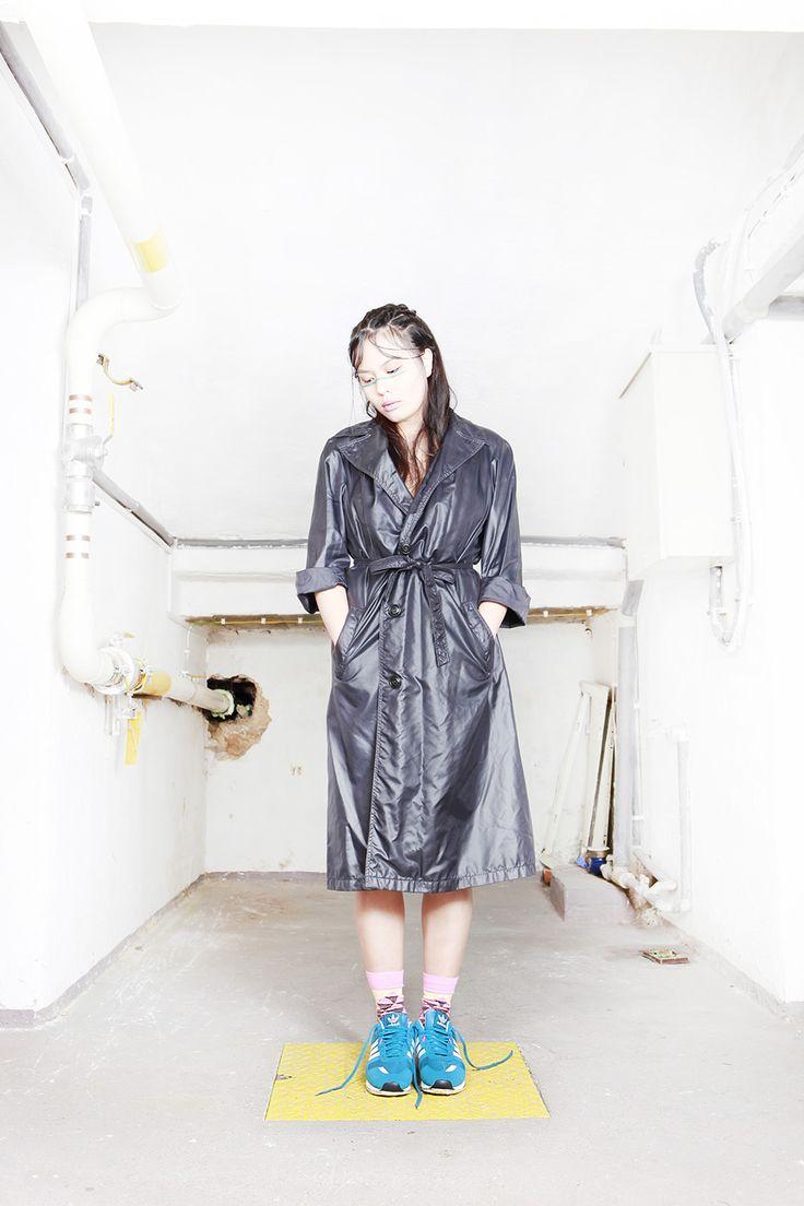 Project: Escape     photo: Valentýna Janů  hair: Kateřina Muratová  styling: Alice Reindlová  MUA: Renee Vidourková  model: Lenna Mai     #fashion #editorial #projecttraining #adidasoriginals #adidas #ZXFlux #happysocks