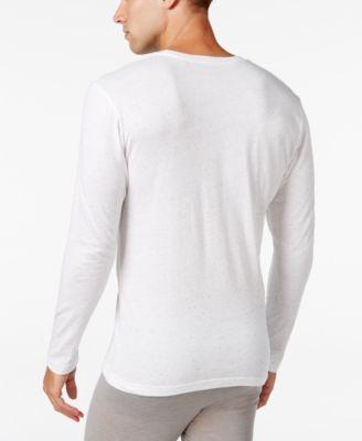 Alfani Men's Long-Sleeve Undershirt, Only at Macy's - Black M