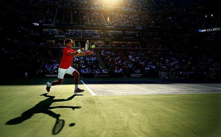 FOREHAND FORWARD #Djokovic  2014, Sports Action , 3rd prize sports single, Al #Bello #worldpresshoto