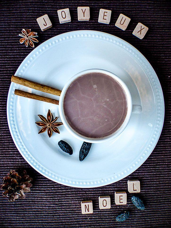 Chocolat chaud de Noël à la fève tonka #vegan