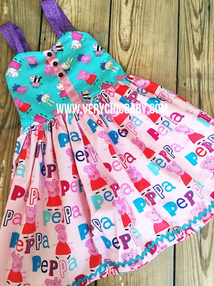 Peppa reverse knot dress with full twirl. Available to Sz 6. Please indicate Sz needed in comments at checkout! Xoxo