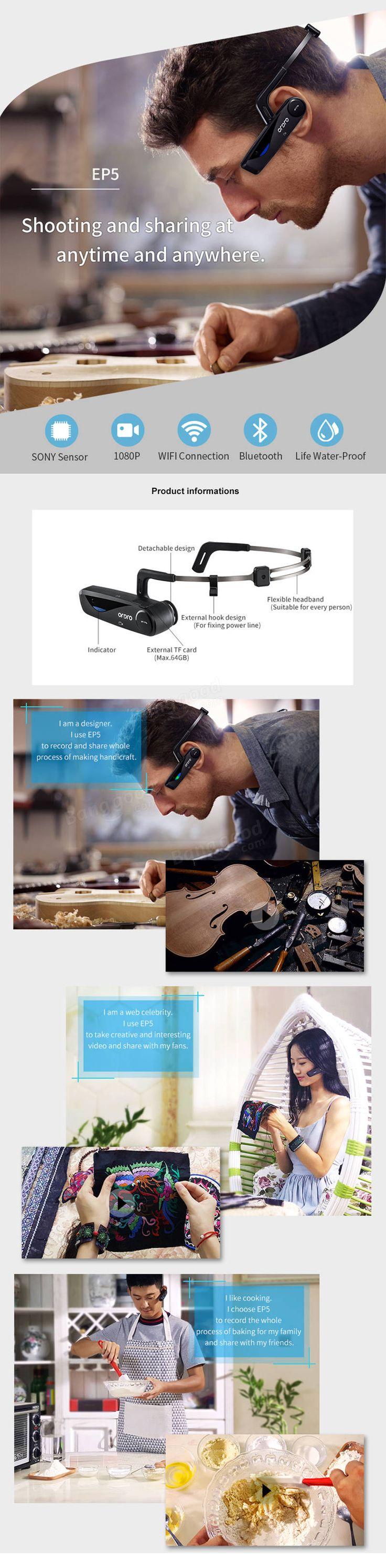 XANES EP5 Headset Driving Bluetooth Headset  Wireless Handsfree Headset Wifi HD Camera Mini Camera