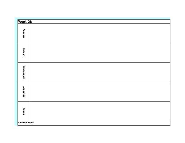 free printable blank weekly planner and task schedule template