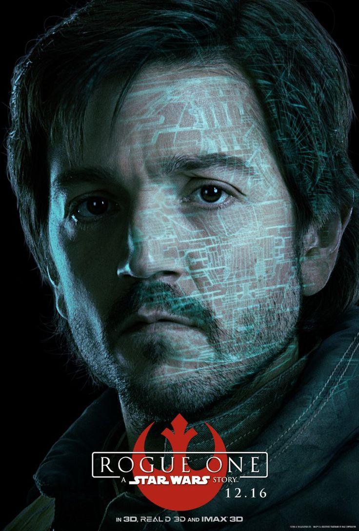 A través del twitter oficial de Star Wars  nos llegan varios pósters individuales de los personajes principales que veremos en Rogue One...