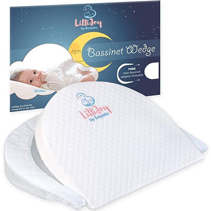 lillijoy premium bassinet wedge pillow