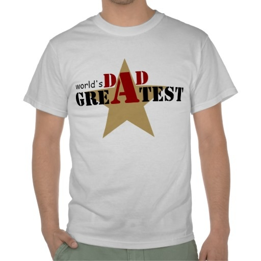 World's Greatest Dad T-shirts #fathersday, #dad, #Worldsgreatestdad, #tshirt, #star #black #red  See more #gifts here http://www.zazzle.com/zazzleproducts1?rf=238228936251904937=zBookmarklet