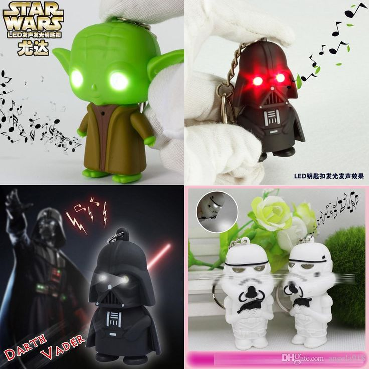 Promotional Keyrings New Star Wars Keychain Accessories Darth Vader Yoda Key Chain White Soldiers With Light And Voice Led Luminous Key Ring Chain Key Pendant E1 Custom Keyrings From Angela918, $0.92| Dhgate.Com