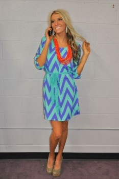 Chevron Dress! We will be restocking this dress mid march!