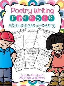 Newly UPDATED Poetry Writing FREEBIE {Diamante Poetry} by Proud to be Primary www.proudtobeprimary.com